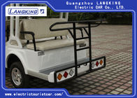 Mini Closed 14 Seats Electric Sightseeing Car With High Impact Fiber Glass Body & Roof