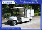 2 Orang White Mini Electric Cargo Truck Dengan Stainless Steel Cargo Box 650kg 48v 3kw Motor DC