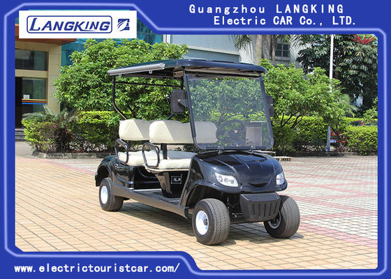 Cina Black 4 Seaters Powerfull Electric Club Mobil Golf Buggy Steel Framework pabrik