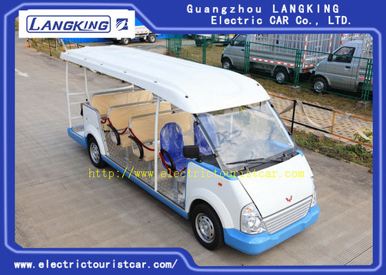 Cina 18 Kursi Green Gasoline Electric Tourist Car Resort Mobil F / R Suspensi Independen pabrik